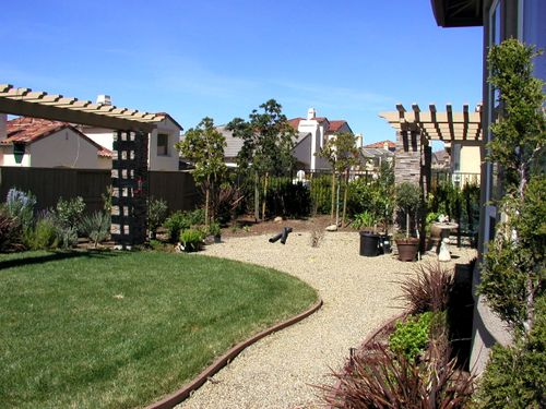Jenny's yard before