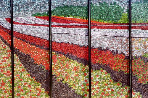 Mosaic sculpture garden