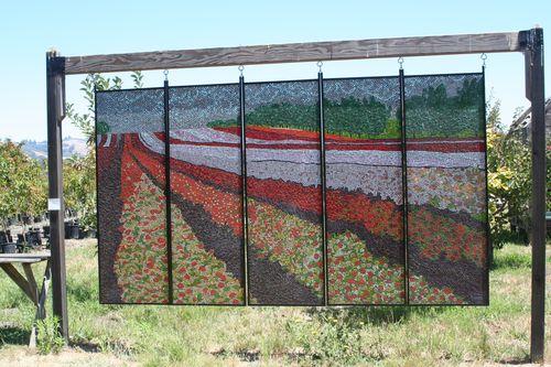 Mosaic at sculpture gardem