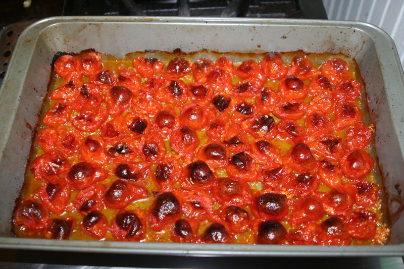 Roasted pear tomatoes