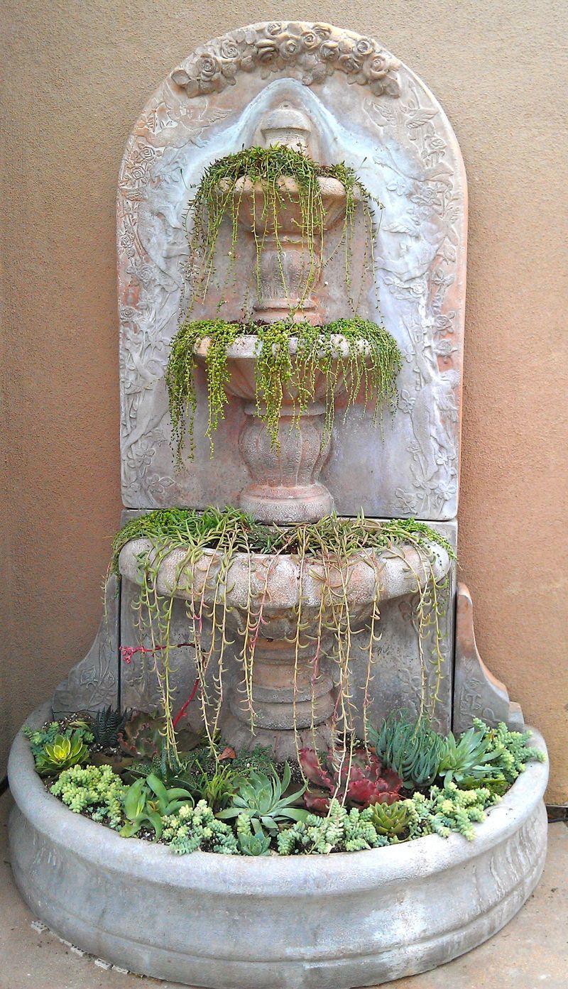 Jen's succulent fountain